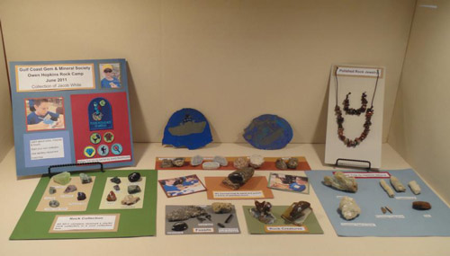 Beautiful exhibit by one of our junior rockhounds